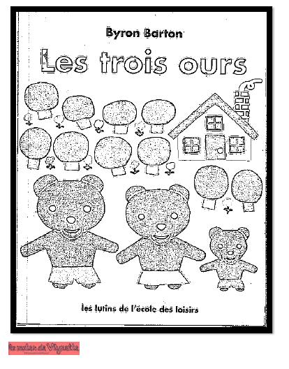 Boucle D'or Et Les Trois Ours Coloriage : boucle, trois, coloriage, Boucle, Mater, Vlynette