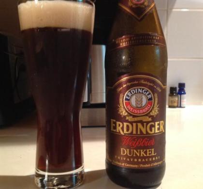 Dunkel Weissbier de Erdinger Weissbrau (SAQ)