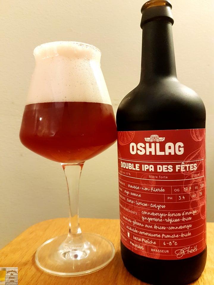 Double IPA des Fêtes d'Oshlag