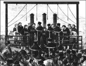 Ejecución de revolucionarios de Narodnaya Voila