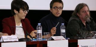 Violeta Barba, Íñigo Errejón y Daniel Raventós, en un simposio sobre la RBU. Foto: RRB