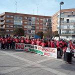 Concentración de la plantilla de Coca-Cola de Fuenlabrada. Foto: Daniel Campos