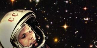 Yuri Gagarin, primer humano en el espacio e hijo de campesinos. Foto: Robert Couse-Baker.