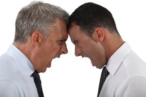 side - Two businessmen having an argument
