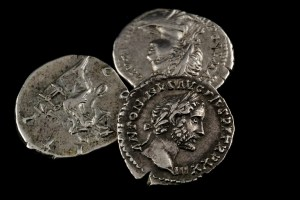 Isolated Roman Coins