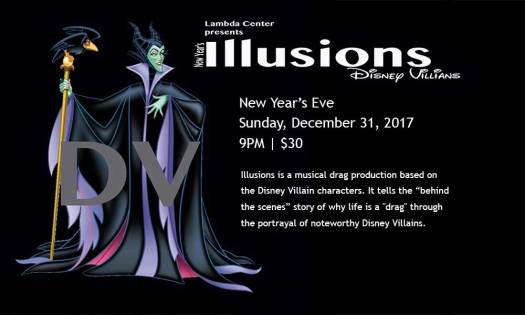 Illusions: Musical Drag Production on New Year's Eve 2017