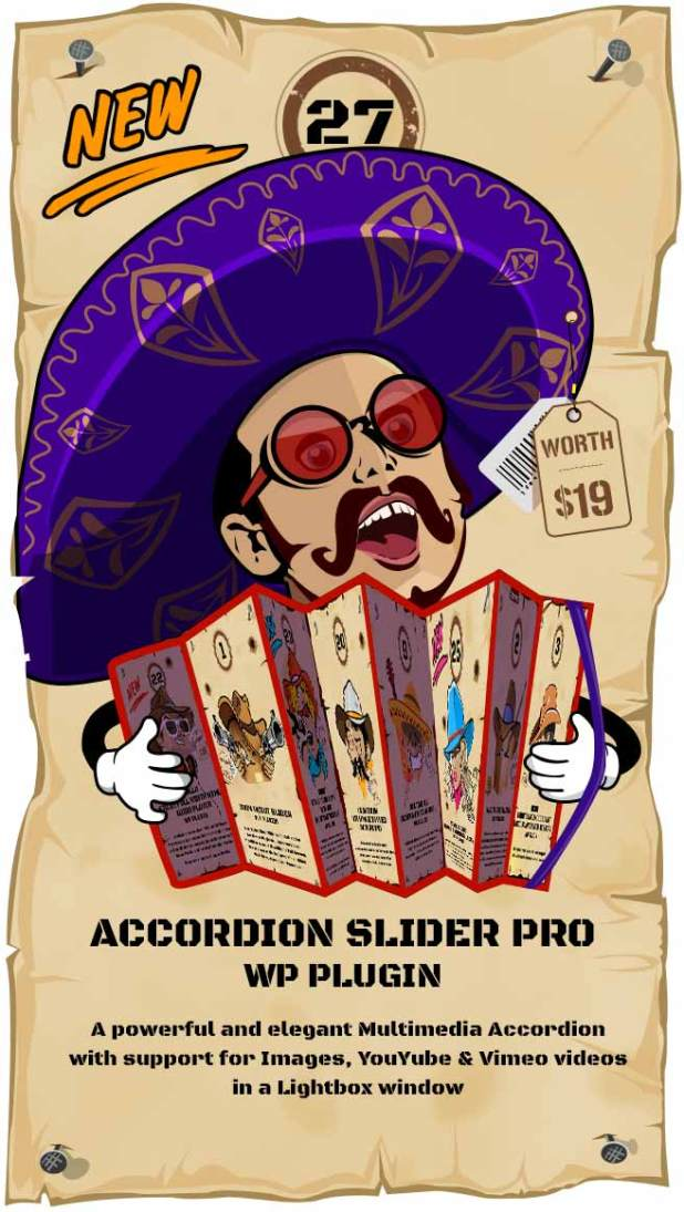 Accordion Slider PRO - Responsive Image And Video WordPress Plugin