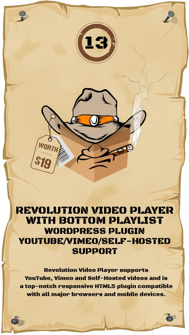 Revolution Video Player With Bottom Playlist WordPress Plugin - YouTube/Vimeo/Self-Hosted Support