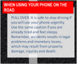 Stopping and parking your car in a safe spot is best before using any mobile device.