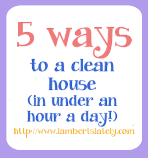 This site has daily and weekly cleaning schedules! Clean one room a week, and start over at the beginning of each month! https://www.lambertslately.com/2012/08/5-ways-to-clean-house-in-under-hour-day.html
