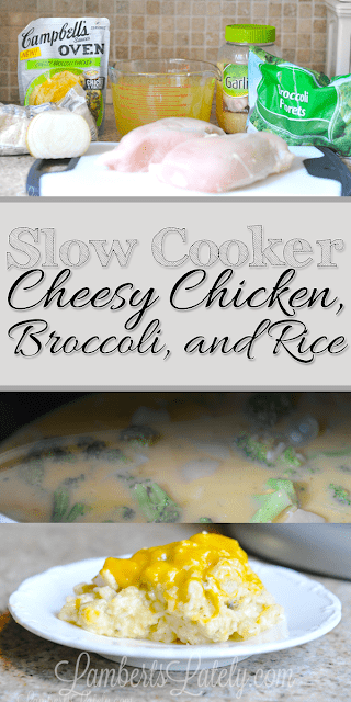 Slow Cooker Cheesy Chicken, Broccoli, and Rice Recipe