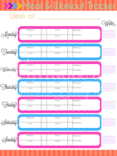 photo relating to Meal Tracker Printable identify Final Building Laptop - Work out Dinner Tracker