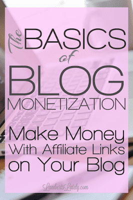 The Basics of Blog Monetization: Using Affiliate Links on Your Blog