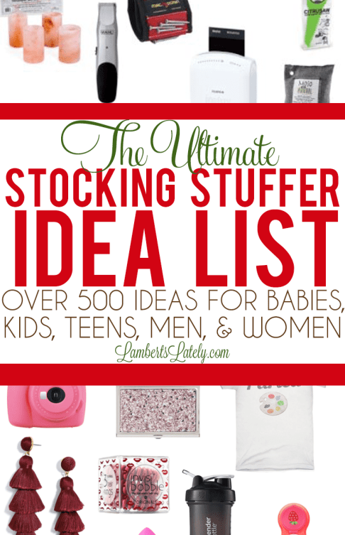 the ultimate stocking stuffer idea list over 500 ideas for the