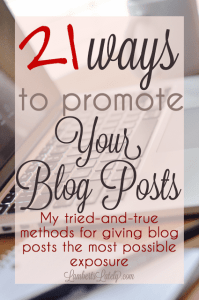 21 Ways to Promote Your Blog Posts