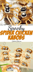 Spooky Spider Chicken Kabobs