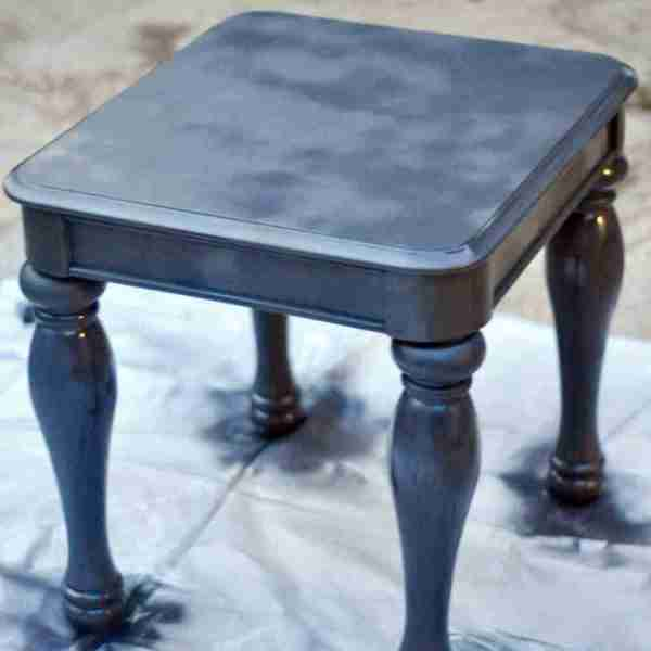 The Easy Way to Chalk Paint Laminate Furniture (using only spray paint!)