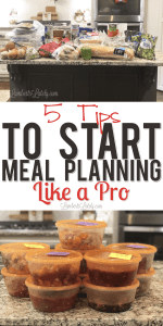 5 Tips to Start Meal Planning Like a Pro (with printables!)
