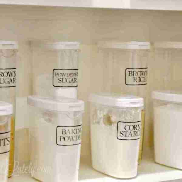 The Easy Way to Make Clear Pantry Labels (with free printables)