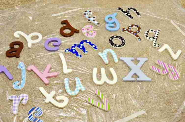 How to Hang an Alphabet Letter Gallery Wall | Lamberts Lately