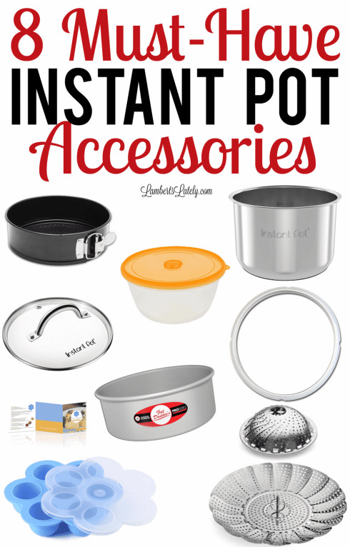 Want to know what products are must haves for your 6 or 8 quart Instant Pot?  These are the best electric pressure cooker accessories and include stainless steel and silicone options!