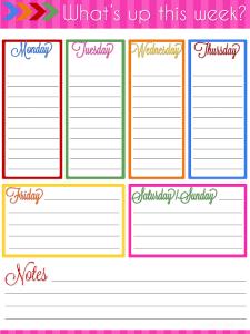 Ultimate Planner Notebook Add-On: Weekly Planner Printable