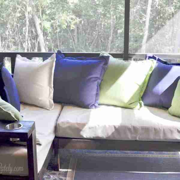 A DIY 2×4 Outdoor Sectional (with Crib Mattress Cushions)