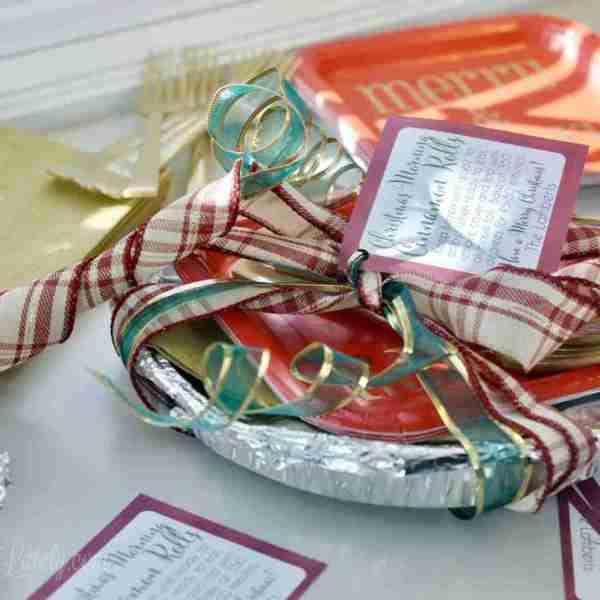 Christmas Morning Cinnamon Rolls Gift Tag Printable