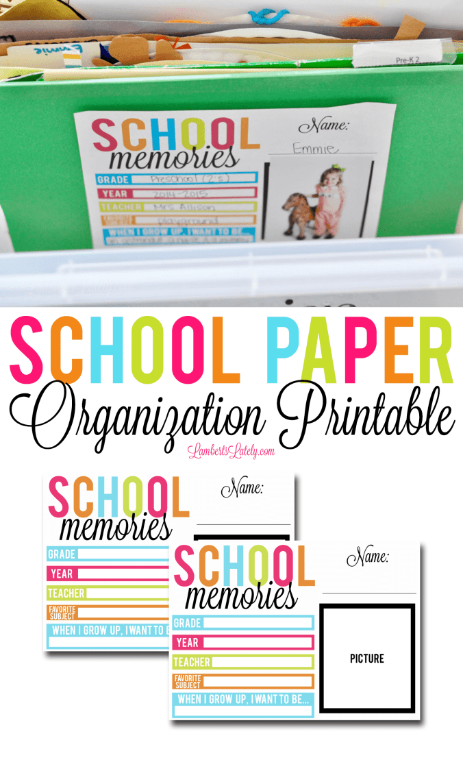 Ready to organize your kids' school papers? Parents can use this simple filing system (complete with a cute free printable for labeling) to save and cherish what matters most!