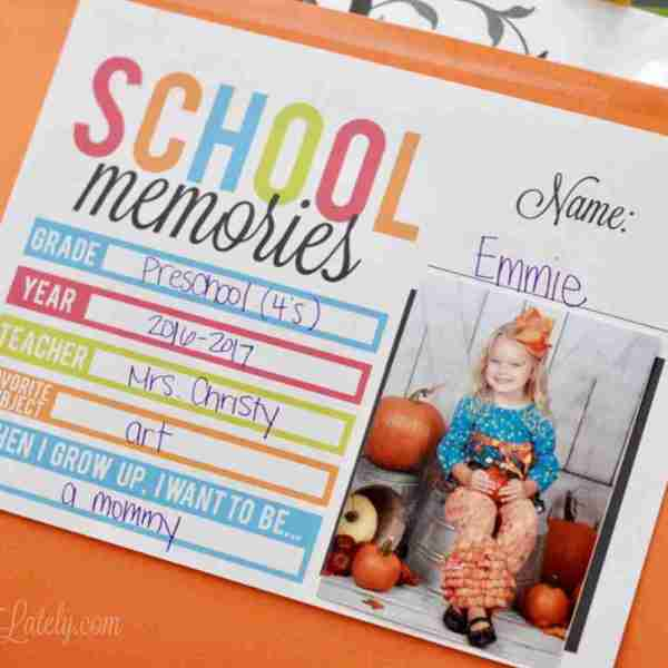 A Simple School Paper Organization Printable
