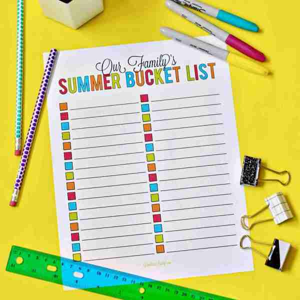 101 Ideas for a Family Summer Bucket List (& Printable!)