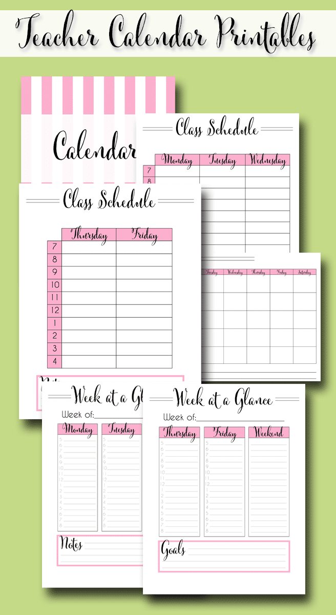 The Ultimate Teacher Planner is a set of free 2021-2022 teacher planner printables that has over 30 pages of calendars, lesson planning templates, binder covers, schedule planning (for elementary and high school), and more!