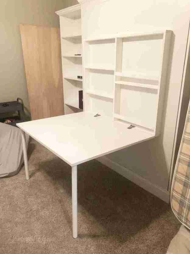 How To Build A Diy Murphy Bed With Desk, How To Build A Murphy Bed With Desk