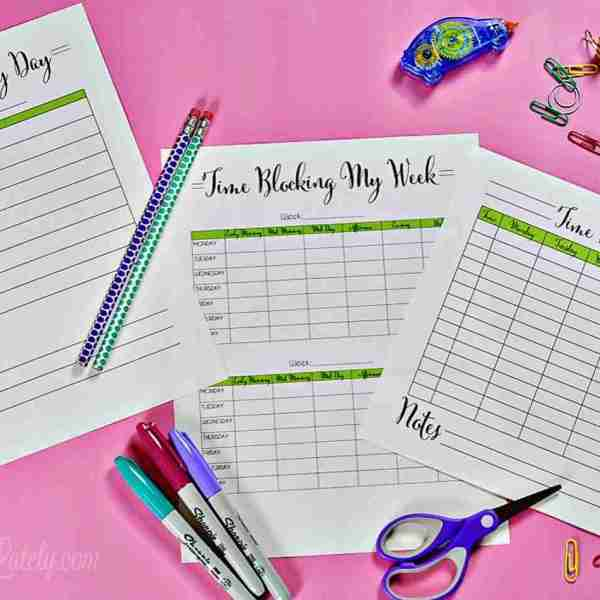 How I Use Time Blocking To Schedule My Day (with printables!)