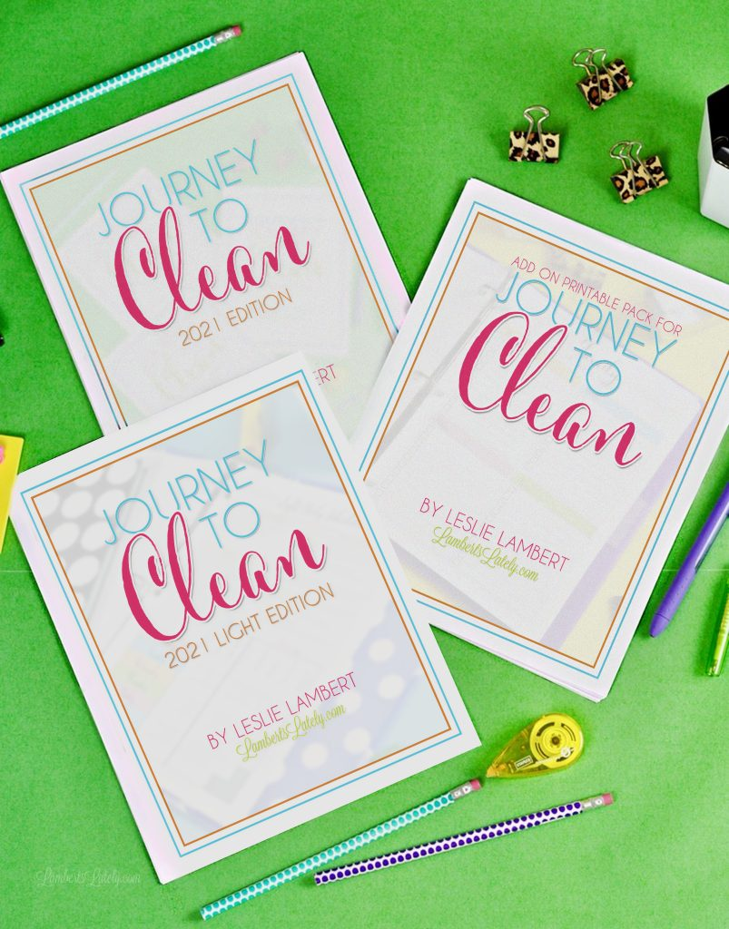 Grab free cleaning printables on this post, includes free cleaning checklists, calendars, and a family chore chart printable! You can also get a peek at Journey to Clean 2021.