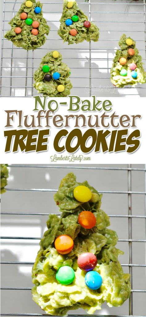 With No-Bake Fluffernutter Tree Cookies, you can make an easy and festive Christmas treat with just 6 ingredients (including peanut butter and marshmallows). Great to make with kids for the holidays.