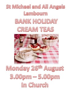 Cream Teas @ Saint Michael and All Angels, Lambourn