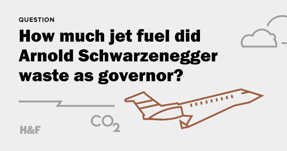 How much jet fuel did Arnold Schwarzenegger waste as