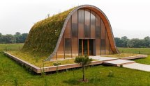 Grass Roof Underground House