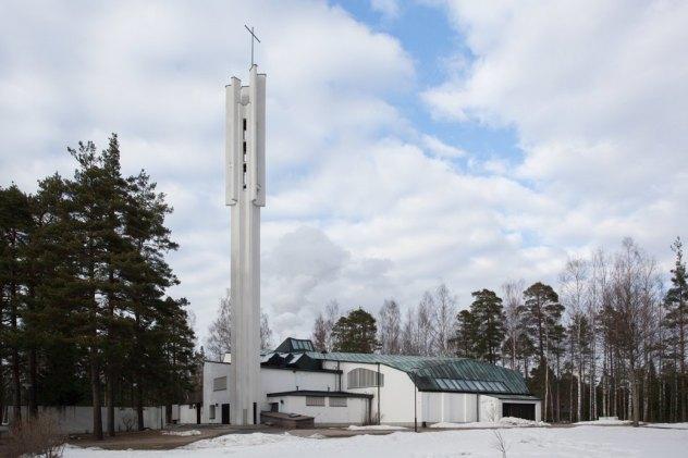 Kolmen Ristin kirkko (церковь Трёх Крестов) Алвара Аалто. Изображение № 44.