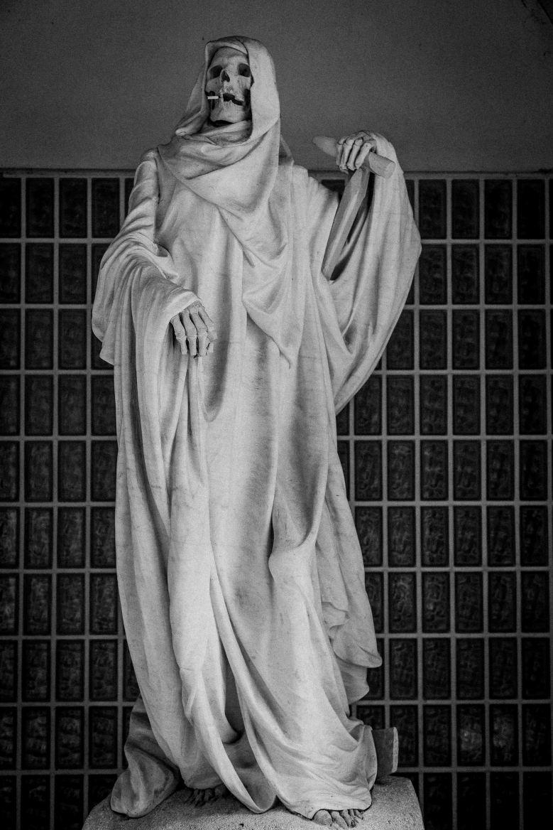 Statue of Death, University of Medicine in Paris