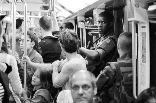 Military presence on subway