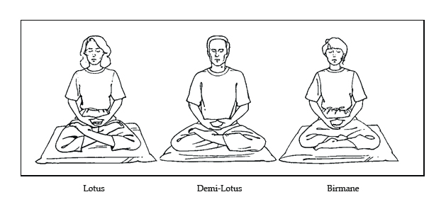 Lotus, demi-lotus, Birmane