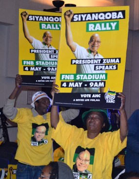 PRO-ZUMA: ANC Supporters were pleased with their candidate.
