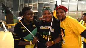 I AM ANC: ANC supporters were geared up to show their allegiance. Photo: Lameez Omarjee