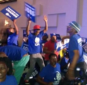 BLUE SEA: DA supporters came in the 100s.