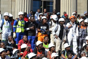LISTEN UP: Mining engineering students listen to an address. Photo: Lameez Omarjee