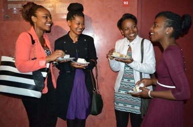 TEA TIME: Students celebrated Women's Day at the Accounting Student Council's High Tea, at the Wits Origins Centre. From left: Tebogo Selabe (3rd year BAccSci), Suzan Lesame (3rd year BCom Accounting), Moleboheng Sefume (3rd year BAccSci) and Tinyiko Mareane (3rd year BEconSci). Photo: Lameez Omarjee