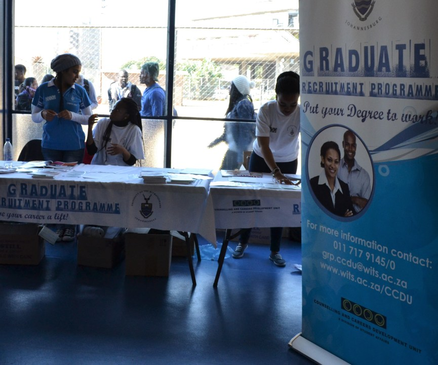 EMPLOYABLE?: The annual Career's Fair at Wits University was held in july at Old Mutual Sports Hall and gave students an opportunity to network with potential employers. Photo: Lameez Omarjee
