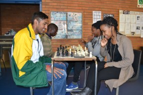 PAWN STARS: Wits University chess club's Evasan Chettiar, chairperson and Seadimo Tlale, development officer are the top two players of the club and will represent South Africa at the World University Chess Championships in Katowice Poland. Photo: Lameez Omarjee